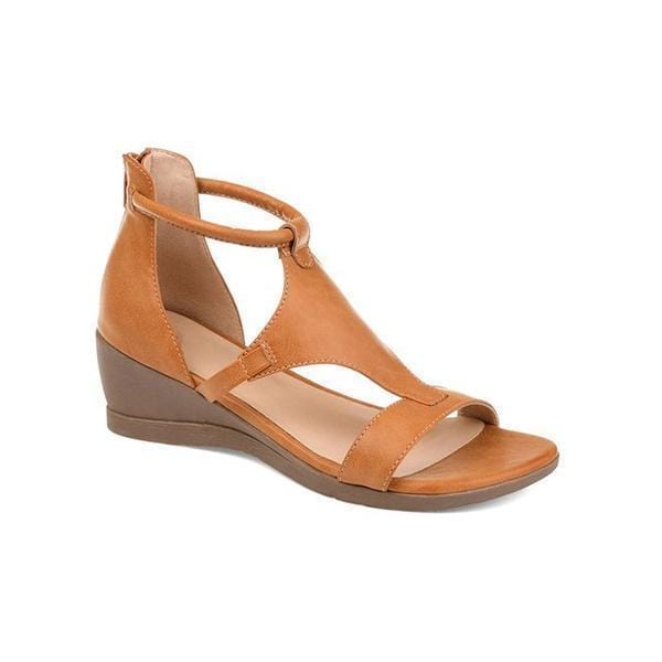 ANDAREYA™ - Women Casual Leather Comfy Wedge Sandals
