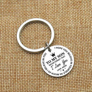 Sentiments™- MOM TO SON BELIEVE IN YOURSELF KEYCHAIN