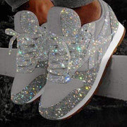 Gyanna™ - Women Sparkle White Sneakers Shoes