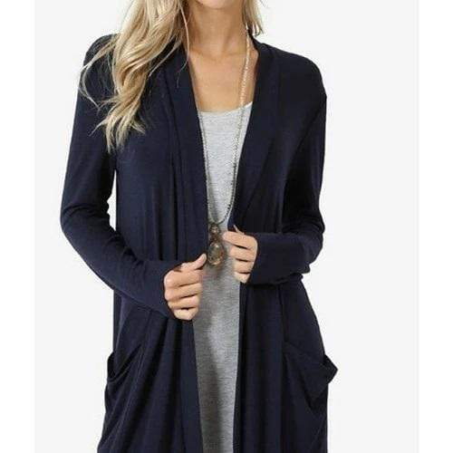 Simple Long Sleeve Cardigan