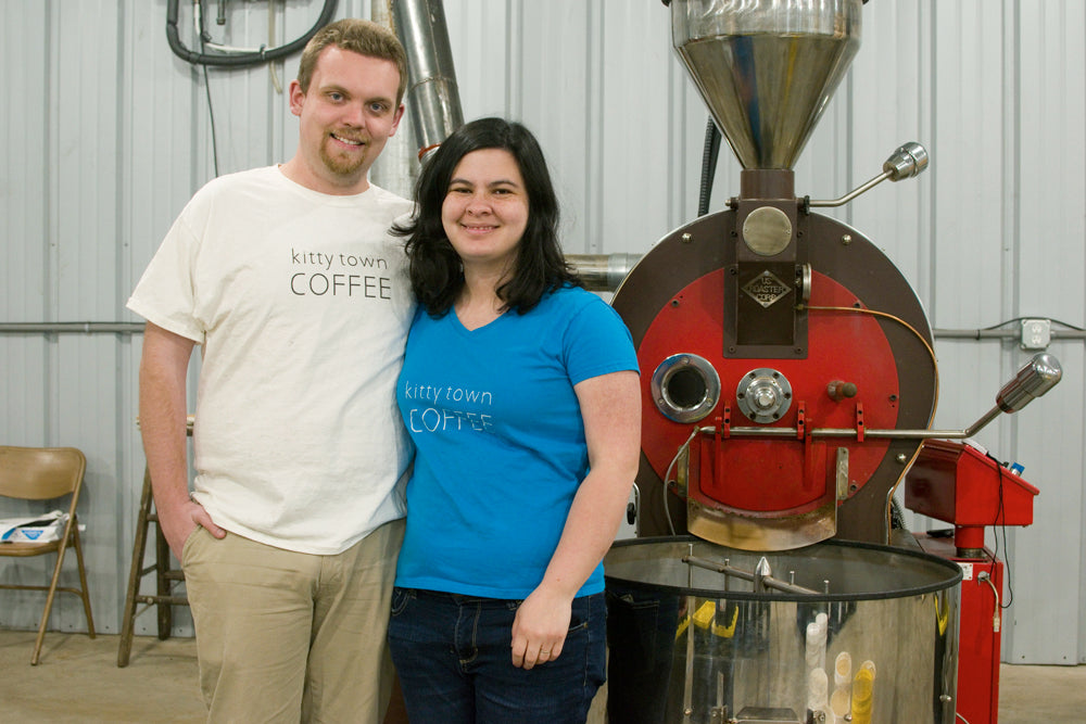 Kenny and Zanetta Kok by coffee roaster