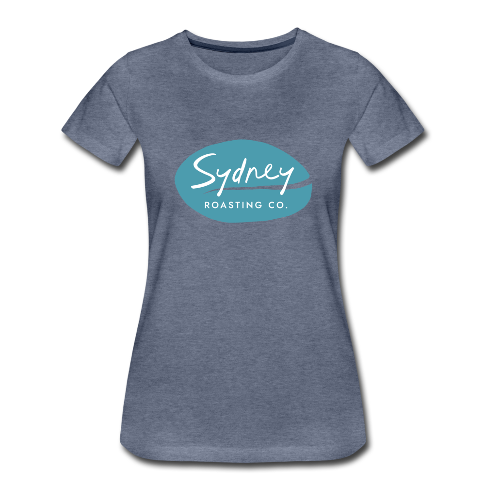 Ladies Fitted T-Shirt - heather blue
