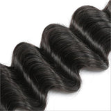 Deep Wave Virgin Human Hair Natural Black Bundles
