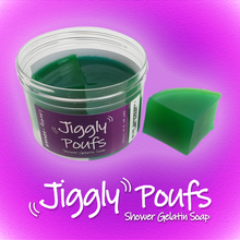 Load image into Gallery viewer, Jiggly Pouf (blue raspberry/lime scent)