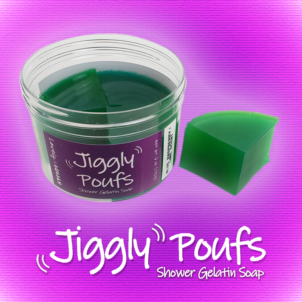 Jiggly Pouf (blue raspberry/lime scent)