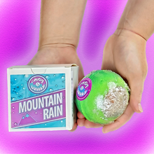 "Load image into Gallery viewer, Mountain Rain 2.75"" bath bomb (mountain rain scent)"