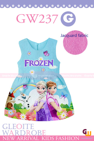 Cartoon Dress: Frozen (blue)
