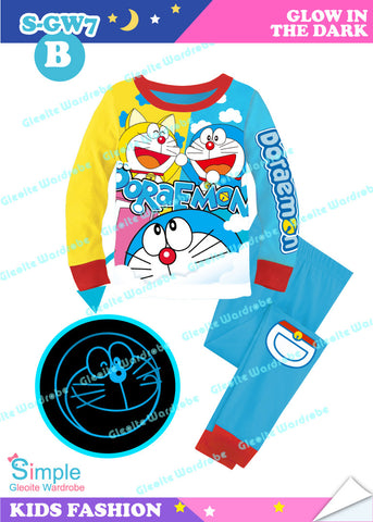 *New Colour* Glowing Long Pajamas: Doraemon