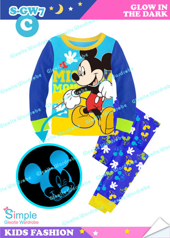 *New Colour* Glowing Long Pajamas: Mickey