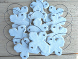Set of 10 Salt Dough Cross Baptism Ornaments