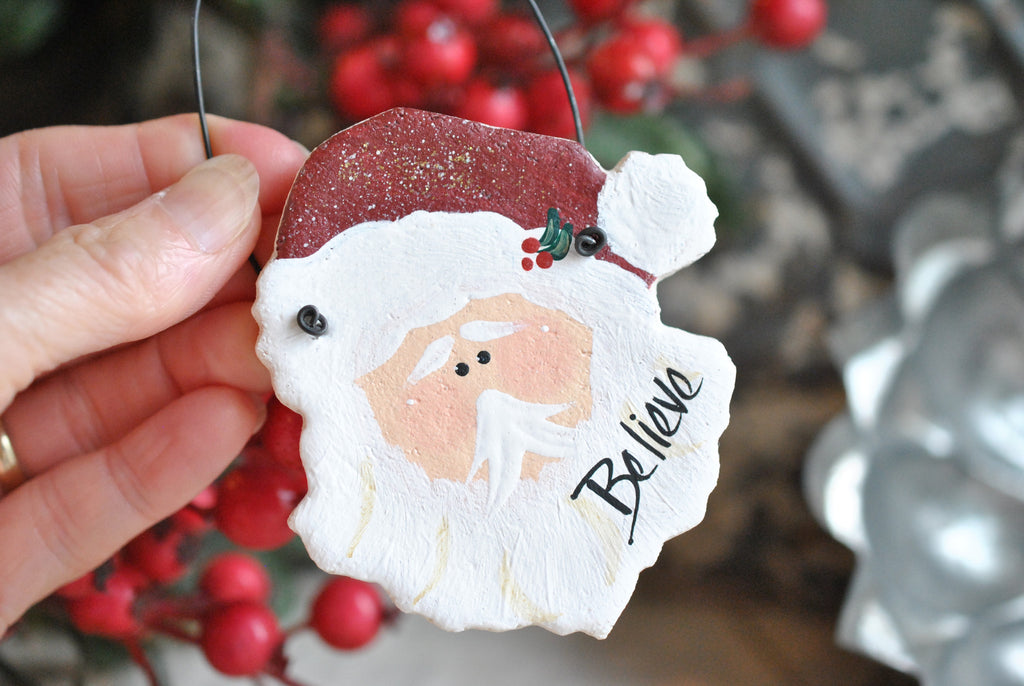Santa Salt Dough Christmas Ornament / Xmas Napkin Ring - Santa Salt Dough Christmas Ornament / Xmas Napkin Ring €� Cookie