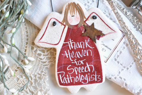 Speech Pathologist Gift Salt Dough Ornament