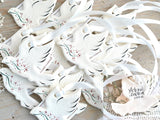 personalized dove ornaments salt dough favor ideas baptism wedding