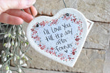 I love You Heart Salt Dough Ornament