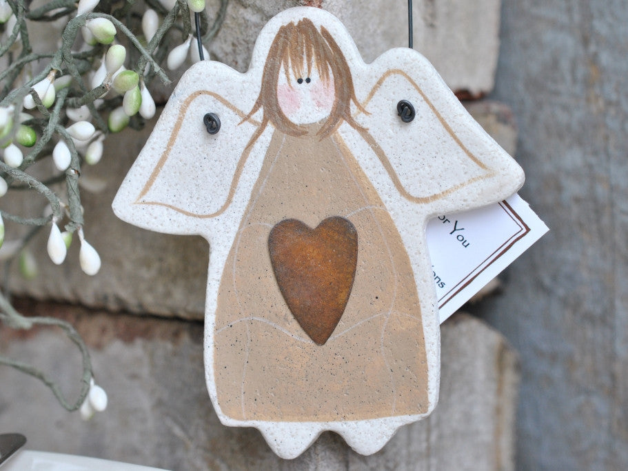 Primitive Salt Dough Angel Ornament