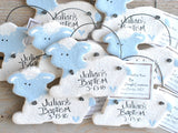 Lamb Baptism Favors Pink or blue Salt Dough Ornaments