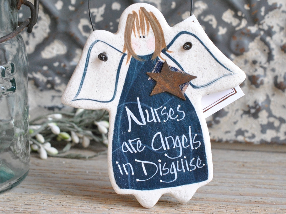 Gift for Nurse Salt Dough Ornament