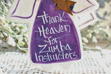 Zumba Instructor Gift Salt Dough Ornament
