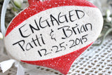 Personalized Engaged Salt Dough Ornament