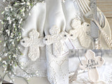 Salt Dough Cross Baptism Favors Imprinted Personalized Ornaments Set of 10 Napkin Ring Ornaments