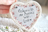 Godparents Gift Salt Dough Heart Ornament