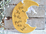 Love you to the Moon and Back Salt Dough Wall Hanger Ornament