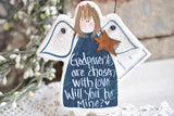 Will you be my Godparents Gift Salt Dough Angel Ornament