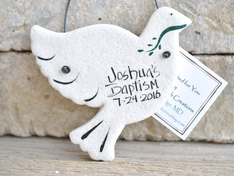 Dove Salt Dough Baptism / Wedding Favors Set of 6