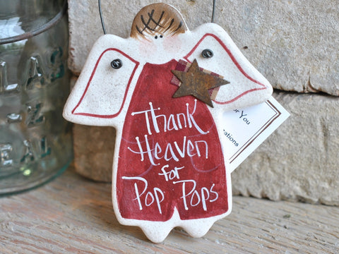 Grandfather Father's Day Gift Pop Pop Salt Dough Ornament