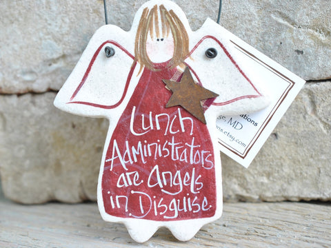 Lunch Administrator Gift Salt Dough Ornament