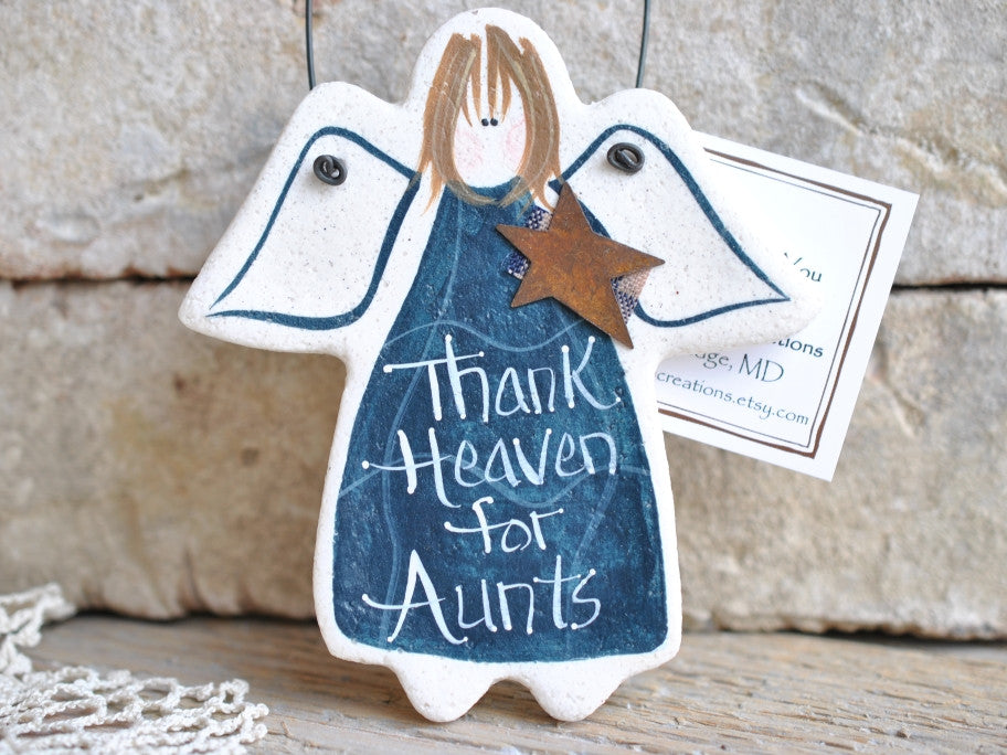 Aunt Gift Salt Dough Ornament