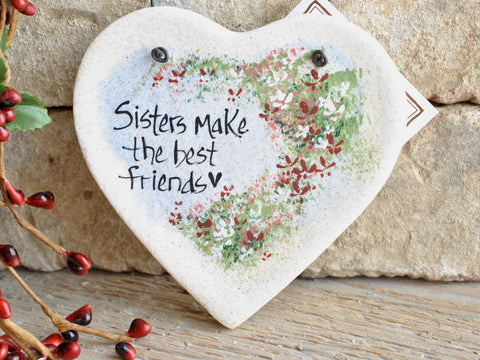 Sister Gift Salt Dough Ornament