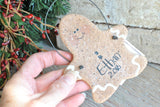 Personalized Gingerbread Man Salt Dough Ornament