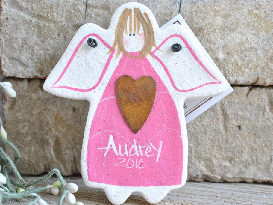 Personalized Angel Salt Dough Gift Ornament