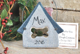 Personalized Pet Dog House Salt Dough Ornament