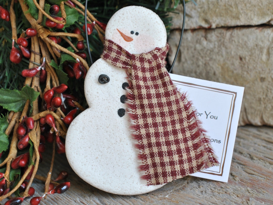 Salt Dough Snowman Ornament