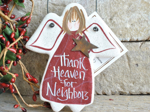 Neighbor Gift Salt Dough Ornament