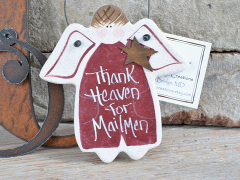 Mailman Christmas Birthday Thank You Gift Salt Dough Ornament