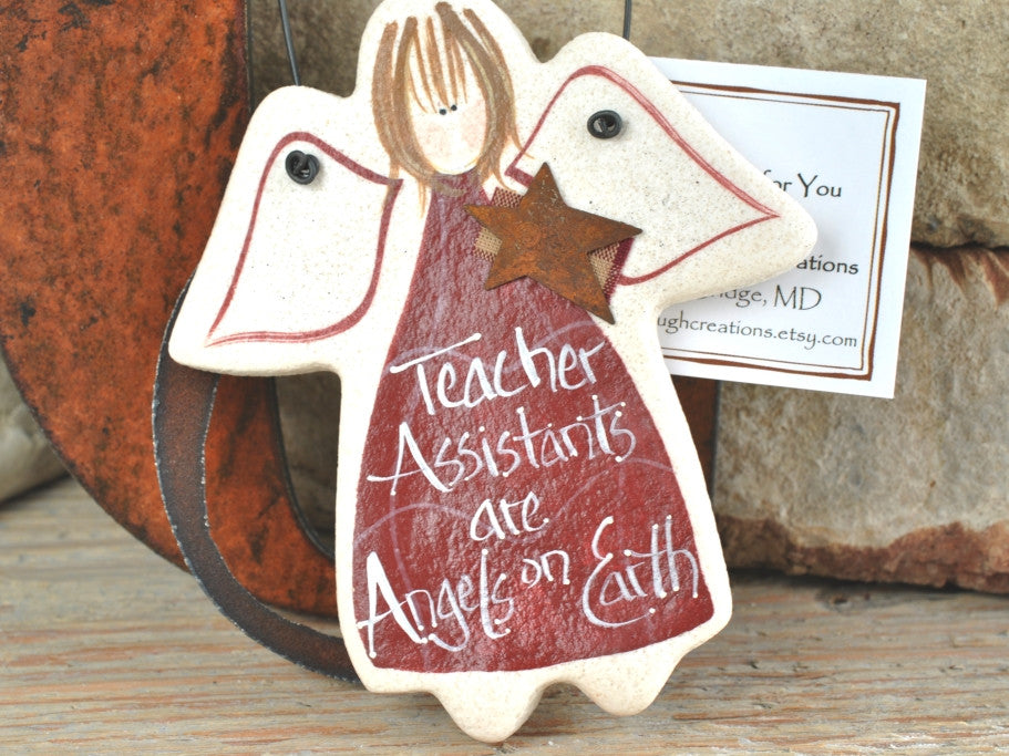 Teacher Assistant Gift Salt Dough Ornament
