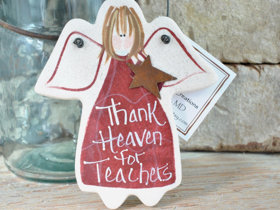 Teacher gift, salt dough ornaments, teacher thank you