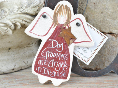 Dog Groomer Gift Salt Dough Ornament Christmas Birthday gift for Groomers