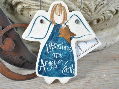 Librarian Salt Dough Ornament