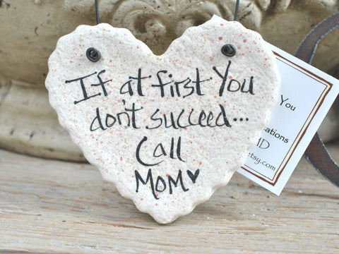 Mother's Day Gift for Mom Salt Dough Hanging Ornament