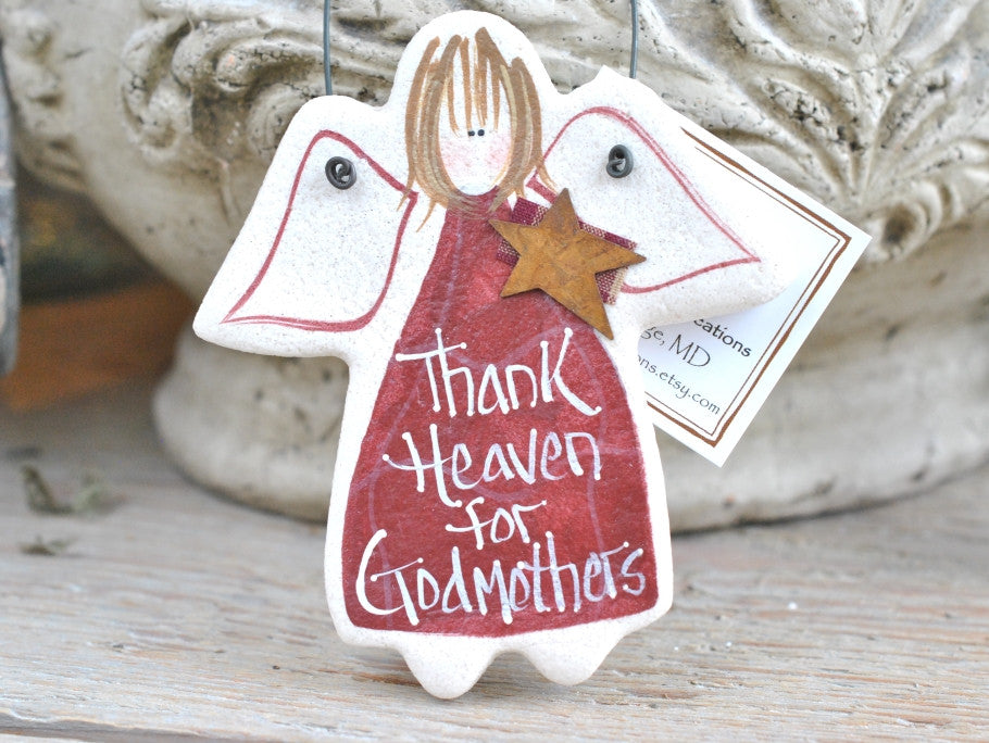 Godmother Gift Salt Dough Ornament Cookie Creations