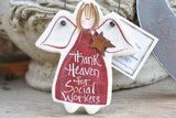 Social Worker Salt Dough Ornament