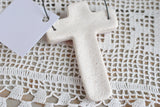Trendy Cross Baptism Easter Favors Set of 6 Cross Salt Dough Ornaments
