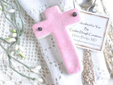 Easter cross Baptism favors salt dough cross ornaments napkin rings
