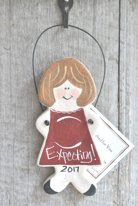 Baby Shower Expectant Parents Gift Salt Dough Ornament