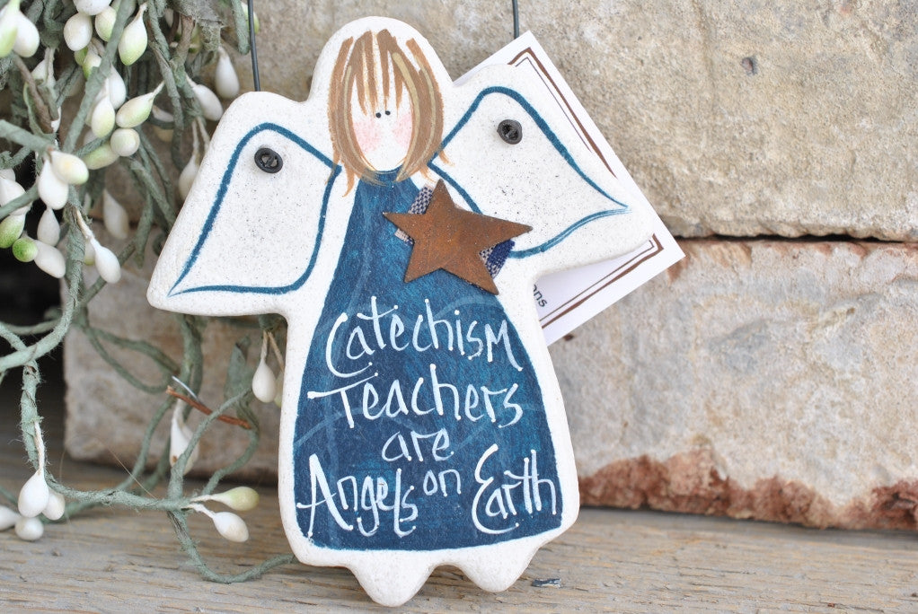 Thank you for Catechism Teacher Gift Salt Dough Ornament