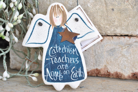 Catechism Teacher Gift Salt Dough Ornament